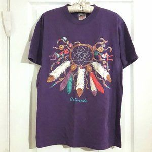 Vintage Tshirt Dream Catcher Cotton Festival Top M